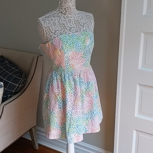 Lilly Pulitzer Colorful Lace Dress Size 2